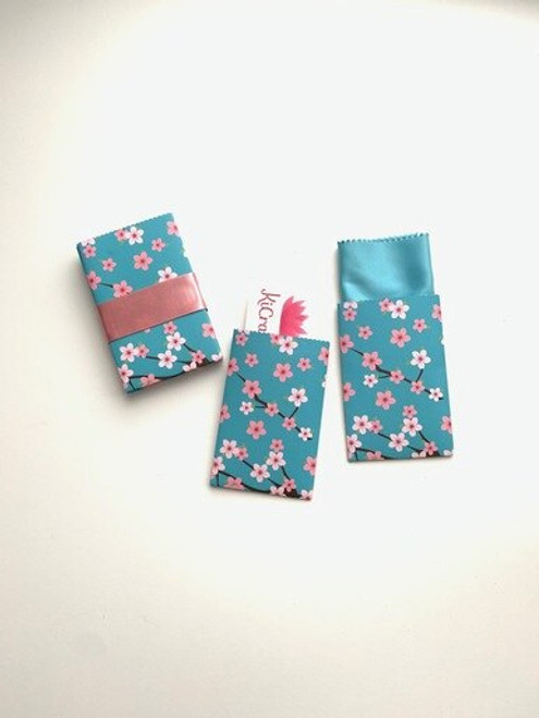 Blue Cherry Blossom Design Handmade Gift Card/ Wedding Favor Paper Pouches