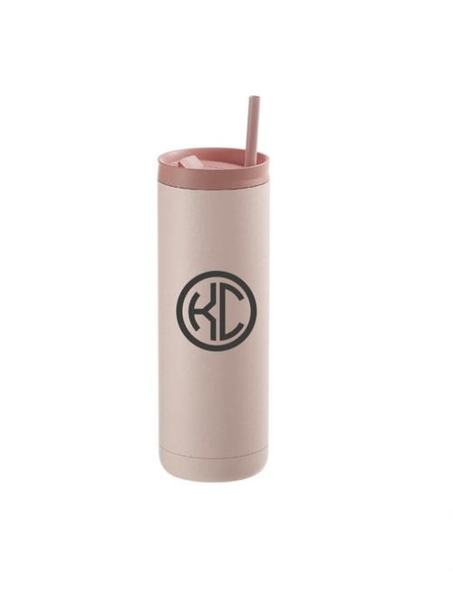 20oz Matte Pink Stainless Steel Skinny Tumbler