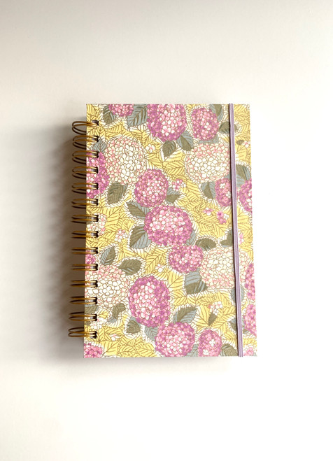 Primrose on Yellow Handmade Notebook