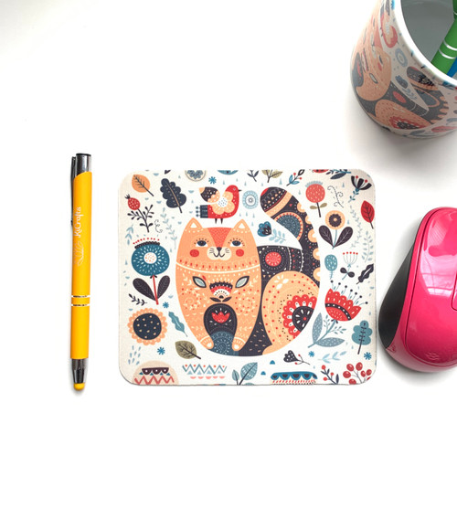 Floral and Cat Mini Mouse Pads