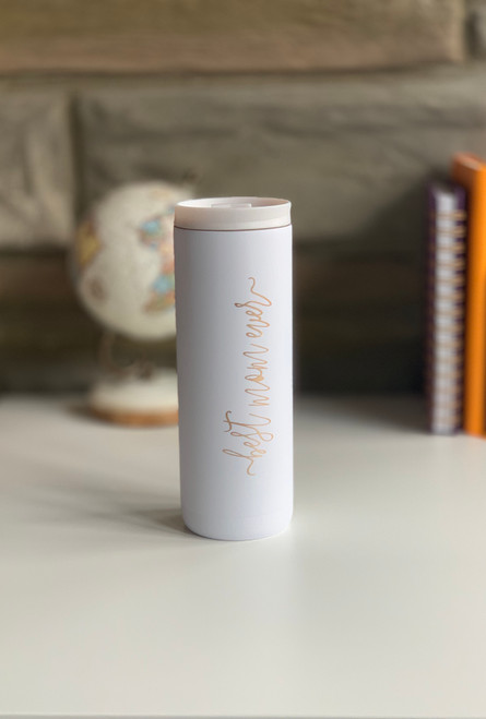 Best Mom Ever 20oz Matte White Stainless Steel Skinny Tumbler