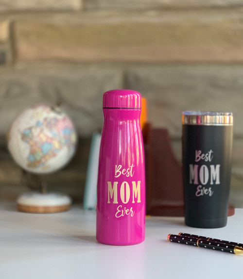 Best MOM Ever Fuschia Tumbler