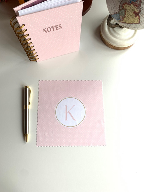 Pretty in Pink Monogram Microfiber Cloth