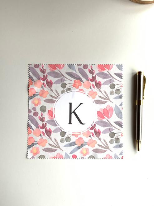 Pastel Floral Monogram Cloth