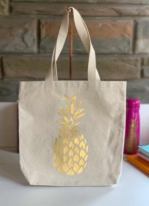 Golden Pineapple Tote