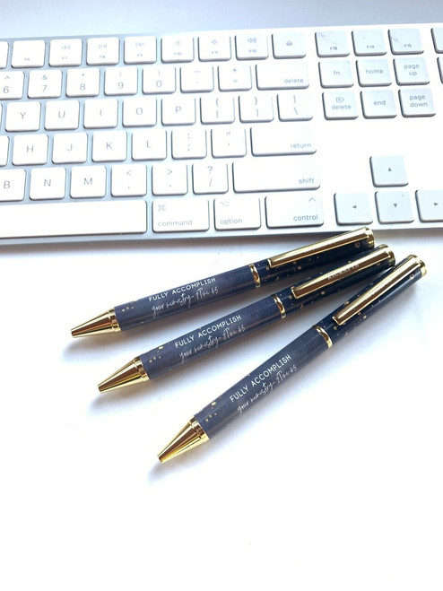 Blue back ground and gold trim writing pen