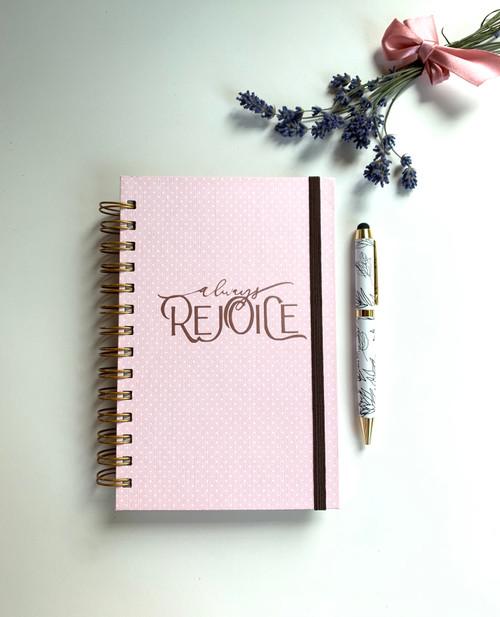 Always Rejoice Handmade Notebook - Pretty in Pink