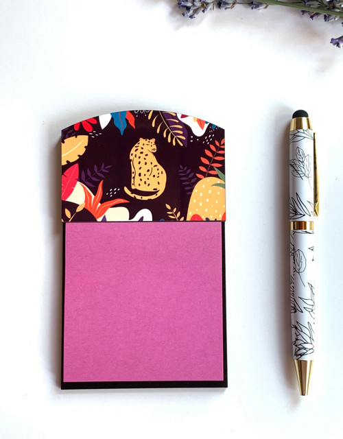 Leopard in the Tropics Sticky Note Holder