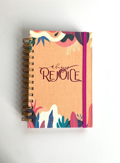 Always Rejoice Tropical Mango Handmade Notebook