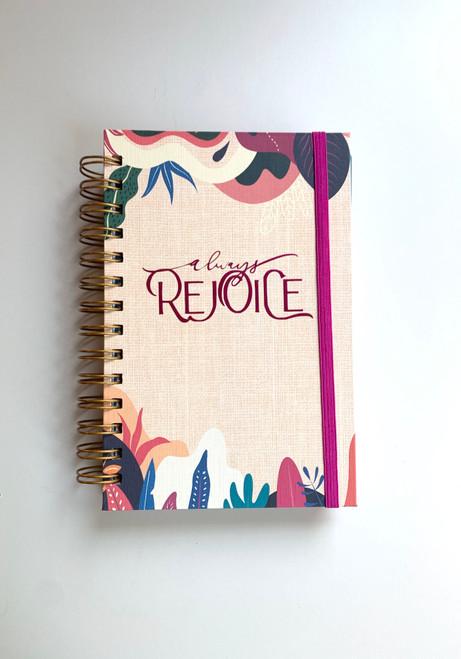 Always Rejoice Tropical Sandy Handmade Notebook