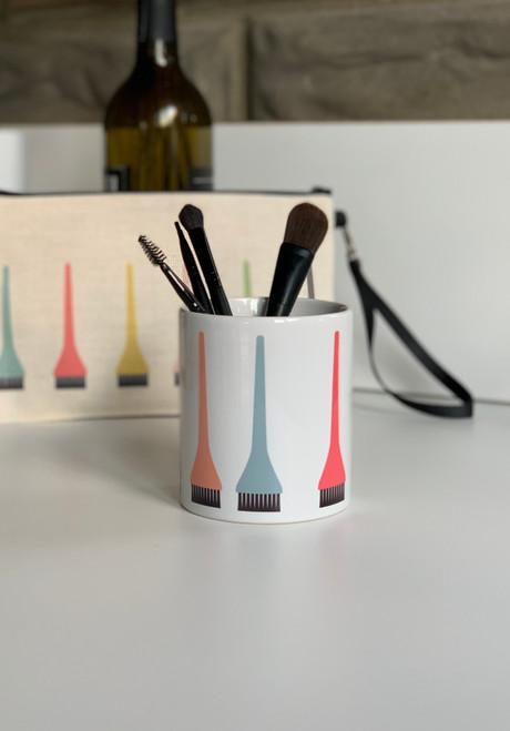 Ceramic Hair Dye Brush Holder