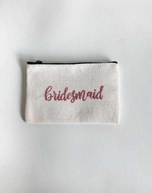 Bridesmaid  Small Linen Zippered Personals Case