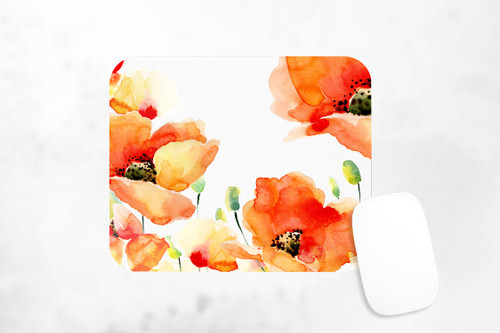 Poppy Floral Mousepad