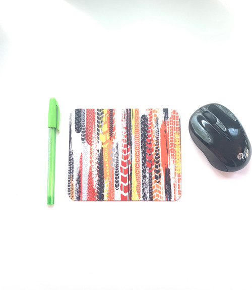 Tire Tracks Mini Mouse pad