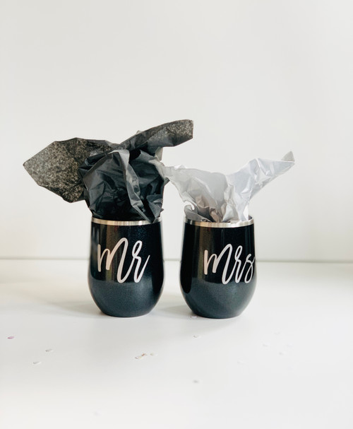 Mr and Mrs Wine Tumbler Set