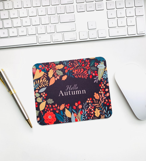 Hello Autumn Mini Mouse pad