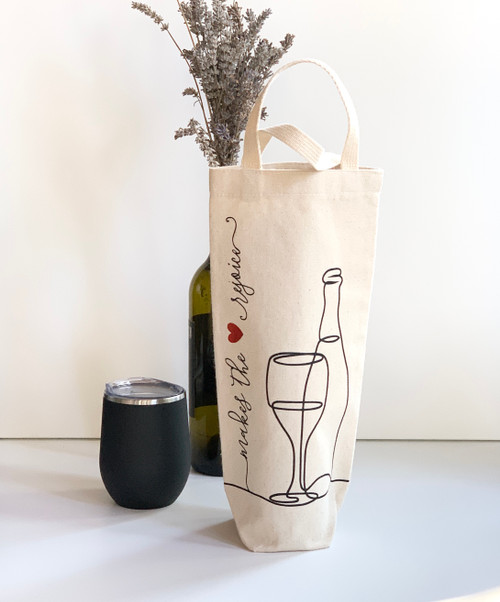 Makes the Heart Rejoice Wine Tote - Natural Canvas