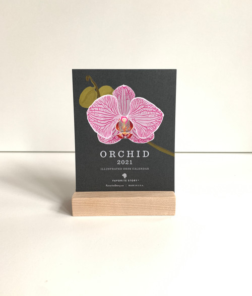 2021 Orchid desk calendar