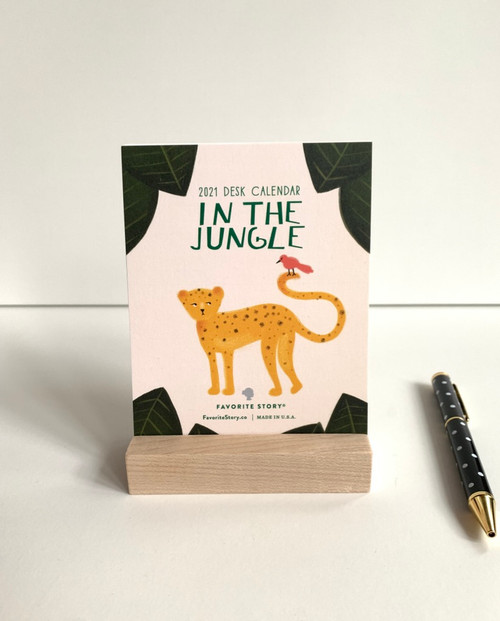 2021 in the jungle desk calendar
