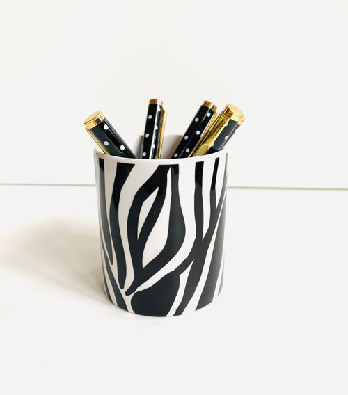 Clearance! Zebra Pen/Brush Holder