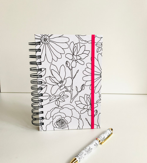 Botanical Floral Handmade Notebook and Pen