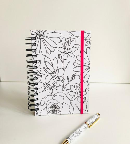 Botanical Floral Handmade Notebook and Pen