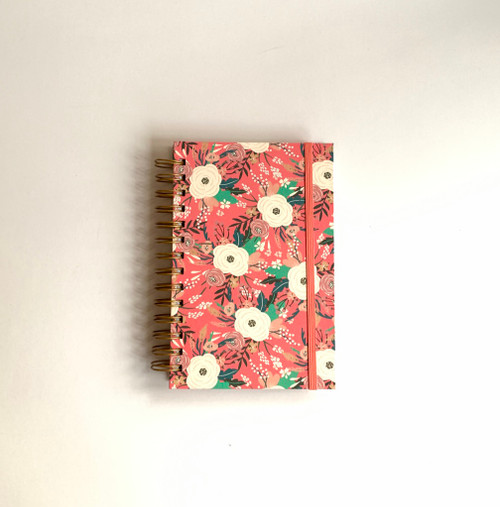 Multi-Color Floral Handmade Notebook and Pen