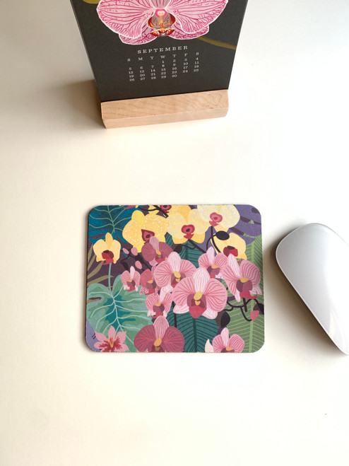 Colorful Orchids Mini Mouse pad