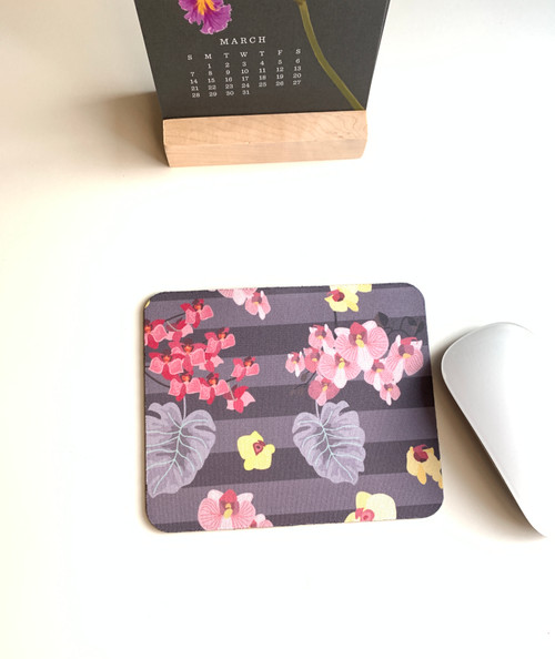 Purple Orchids Mini Mouse pad