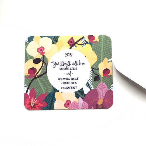 Inspirational Colorful Orchids Mini Mouse pad