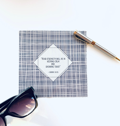 2021 Yeartext Crosshatch Microfiber Cloth