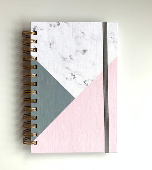 Reserved Handmade Custom Notebook - Marble Asymetric