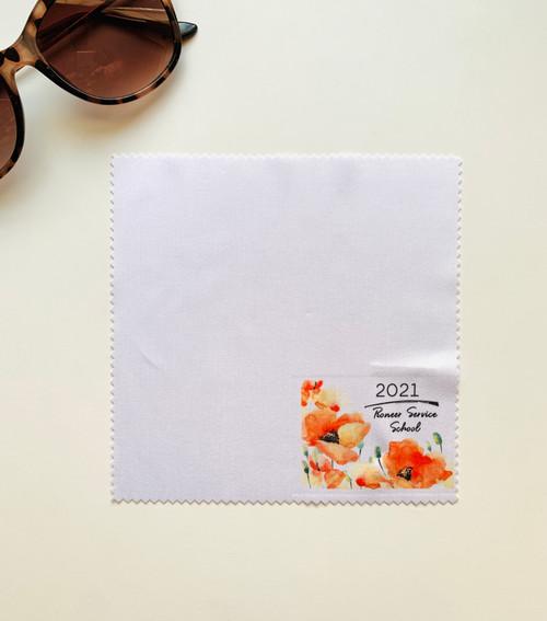 Pioneer Service School Lens Cloth -Watercolor Poppy