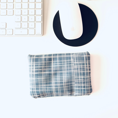 Blue Crosshatch Wrist Rest Cushion