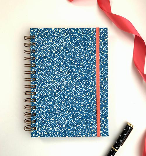 Blue Dots Handmande Notebook