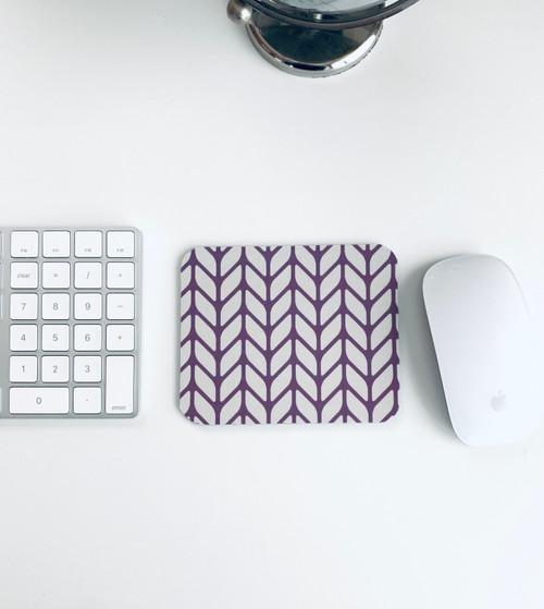 Purple Chevron 2-Tone Mousepad