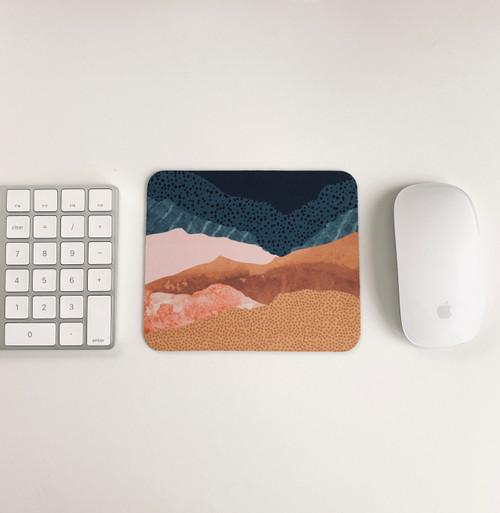 Abstract Watercolor Landscape Mousepad