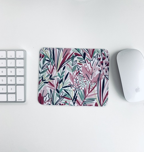Purple Wildflower Mini Mousepad