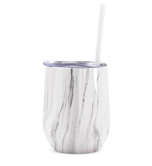 Gray Marble Wine Tumbler