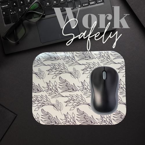 Botanical Print Mousepad - Washable Surface
