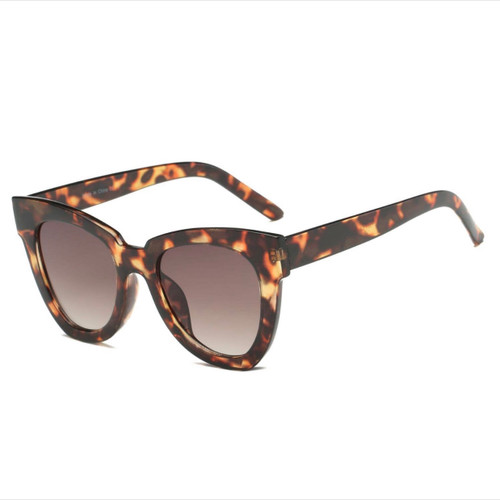 Round Cat Eye Tortoise Sunglasses