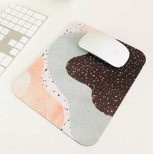 Speckled Watercolor Abstract Mousepad