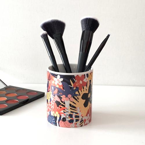 Tropical Jungle Ceramic Brush Cup
