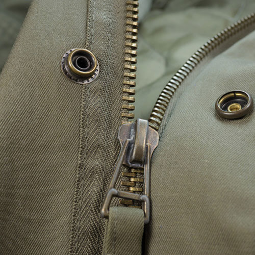 Coat button studs & zipper