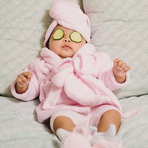 Baby in sleepwear