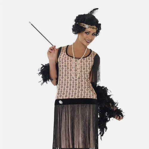 Flapper costume with cigarette filter