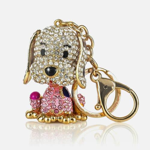 Puppy gem keychain