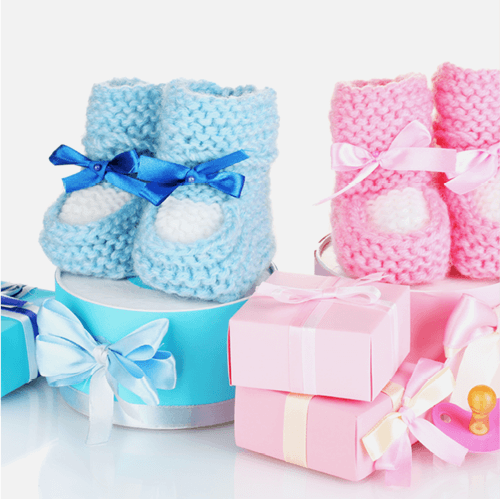 Baby booties & gift boxes