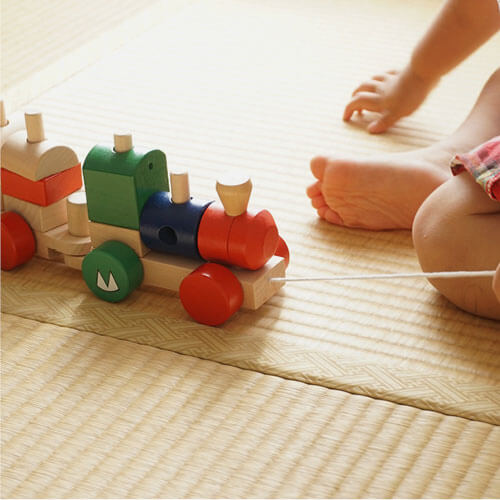 Baby wood toy train