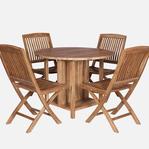 Outdoor folding table set